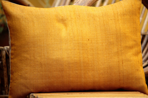 Gold Diamond Weave Cushion Cover (12X16 inches)