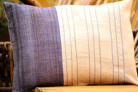 Tussar Silk Cushion Cover (12X16 inches)