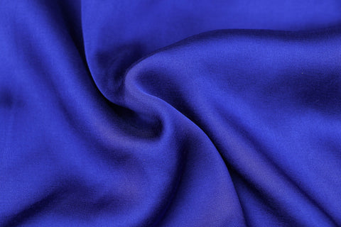 Egyptian Blue - Modal Silk Unstitched Fabric (width - 110 Centimeters)