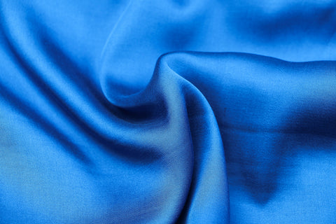 Dodger Blue - Modal Silk Unstitched Fabric (width - 110 Centimeters)