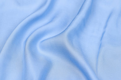 Light Sky Blue - Modal Silk Unstitched Fabric (width - 110 Centimeters)