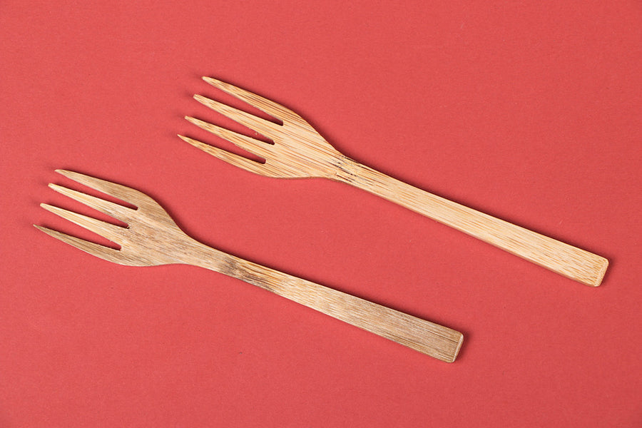 Handcrafted Wooden Fork (Set of 2)