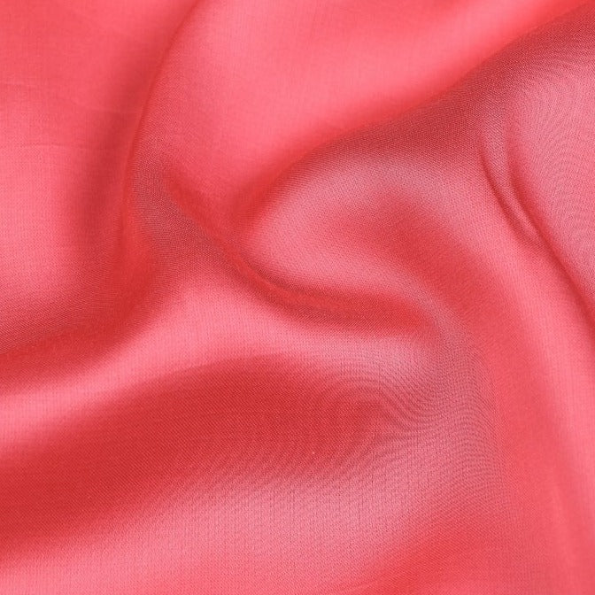 Mandy Red - Modal Silk Unstitched Fabric (width - 110 Centimeters)