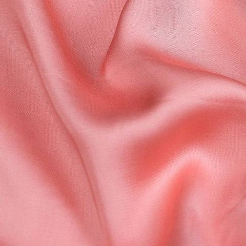 Sweet Pink - Modal Silk Unstitched Fabric (width - 110 Centimeters)