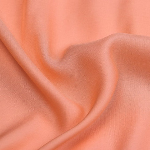 Salmon - Modal Silk Unstitched Fabric (width - 110 Centimeters)