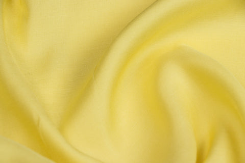 Lemon Yellow - Modal Silk Unstitched Fabric (width - 110 Centimeters)