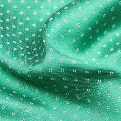Green/White - Handwoven Mashru Silk Cotton Unstitched Fabric (width - 56 Centimeters)
