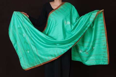 Traditional Manipuri Weave Handloom Silk Cotton Dupatta