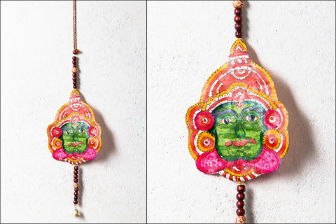 Togalu Gombeyaata Leather Puppet Wall Hanging with Beads