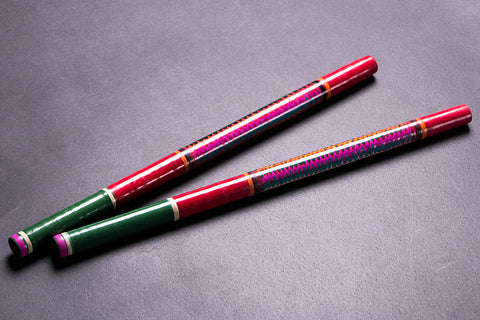 Handmade Lacquered Wooden Garba Dandiya Stick (Set of 2)