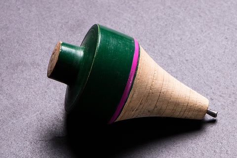Handmade Lacquered Wooden Spinning Top - Lattu