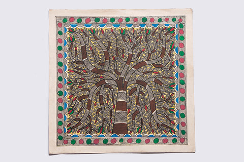 10in x 10in - Traditional Madhubani Painting