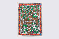 7.5in x 5.5in - Traditional Madhubani Painting