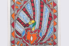 .5in x 5.5in - Traditional Madhubani Painting