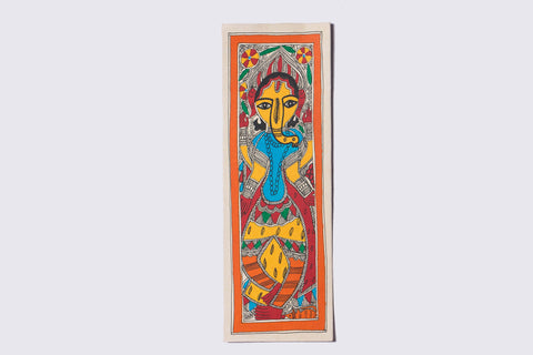 12in x 3.7in - Traditional Madhubani Painting