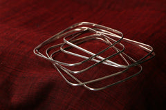 Sterling Silver Plain Bangles Square ( set of 6)