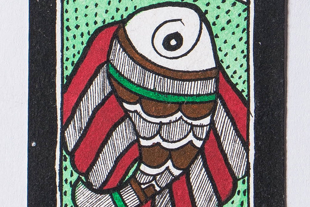 15in x 2.7in - Traditional Madhubani Painting
