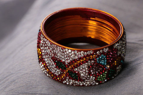 Hyderabadi Lac Bangle Kada - Size 2.4 ( single peice)
