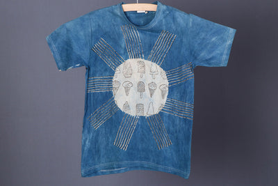 Block Art Prints Natural Dyed Cotton Unisex T-shirt (Size - S)