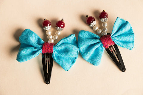 Tik-tak Flower Hair Clips (set of 2)