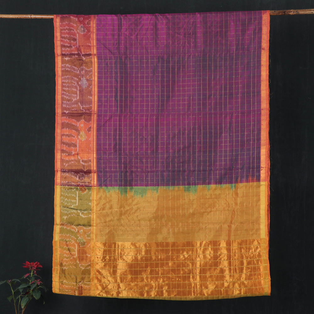 Traditional Venkatagiri Pure Handloom Silk Cotton Zari Weave Saree