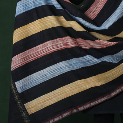 Hand Block Printed Pure Cotton Dupatta with Border & Tassels
