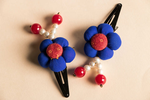 ik-tak Flower Hair Clips (set of 2)
