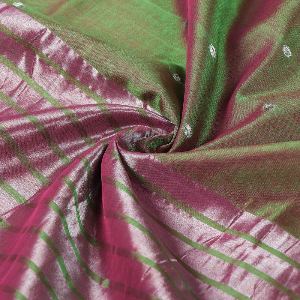 Traditional Venkatagiri Pure Handloom Silk Cotton Zari Buti Saree