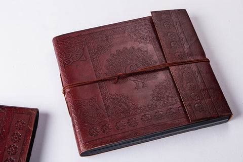 Leather Cover Handmade Classic Photo Album 9in x 10in