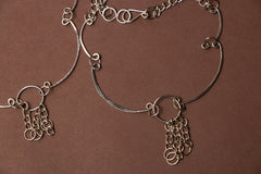 Molded Brass Anklet Pair