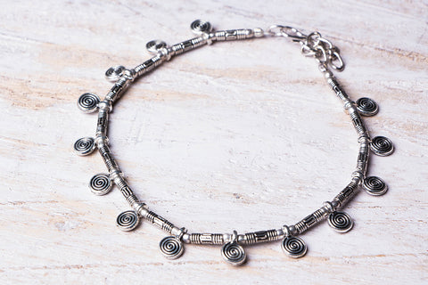 Antique Finish German Silver Anklet