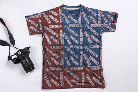 Block Art Prints Natural Dyed Cotton Unisex T-shirt