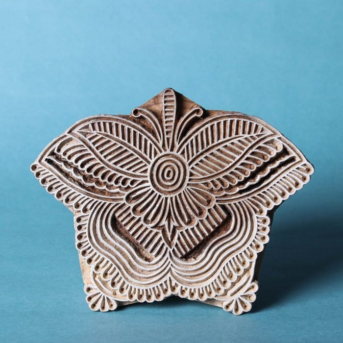 Hand-carved Sheesham Wood Block (Small)