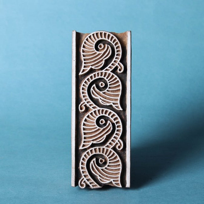 Hand-carved Rohida Wood Block (Big)