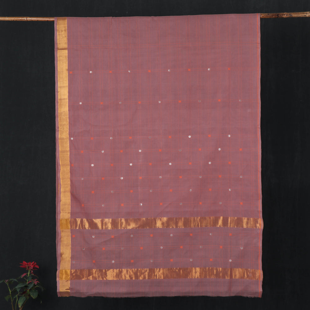 Traditional Venkatagiri Pure Handloom Cotton Buti Saree