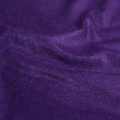 Purple - Vidarbha Handloom Pure Tussar x Katia Silk Fabric