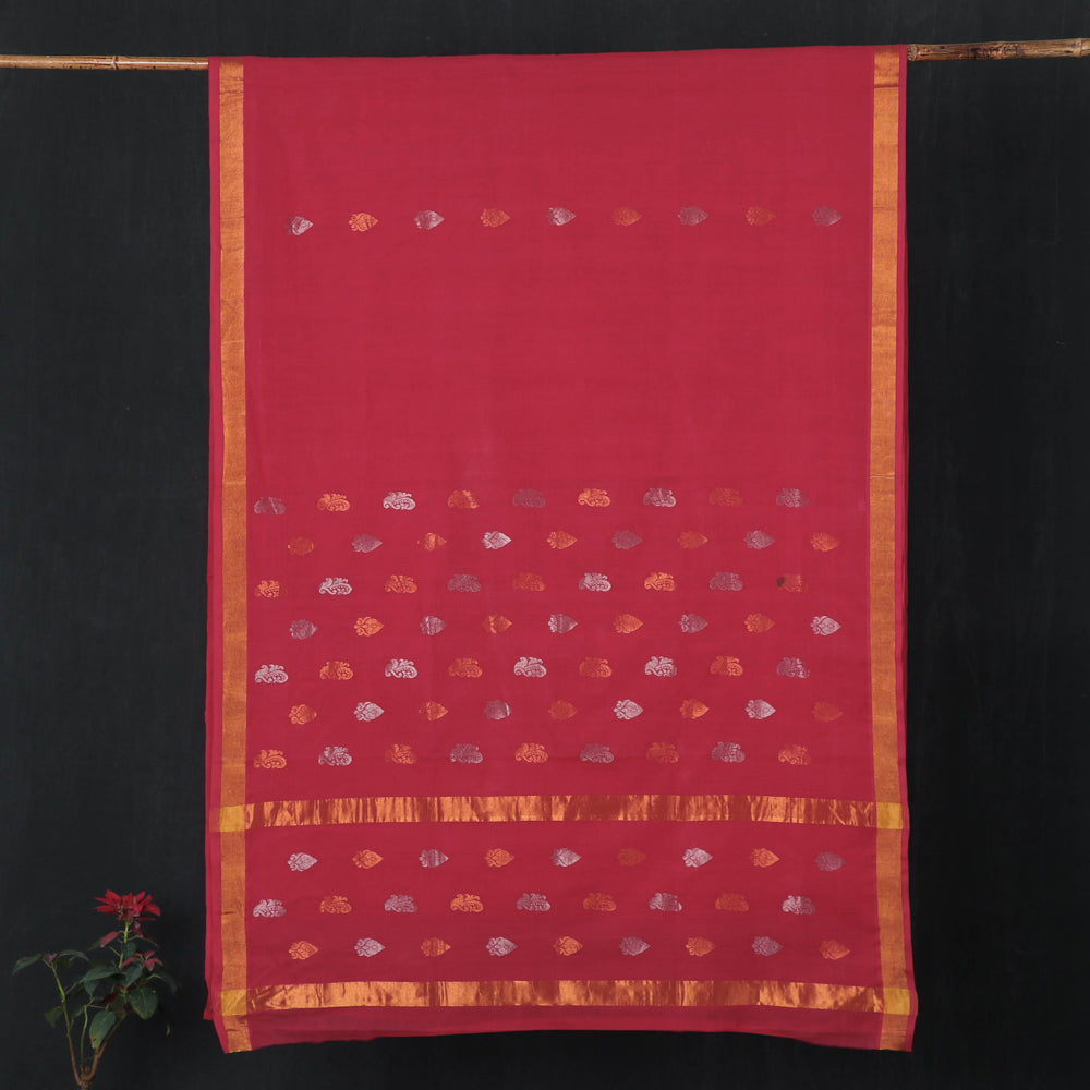 Traditional Venkatagiri Pure Handloom Cotton Zari Buti Saree