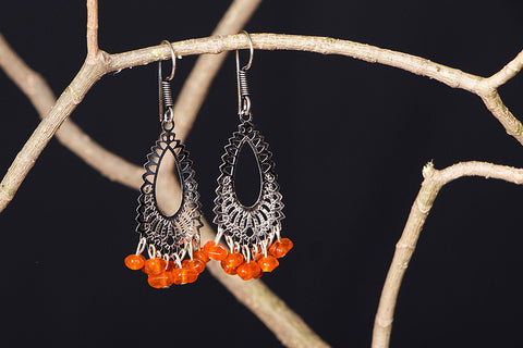 Handmade Bead Work Earrings by Jalpari