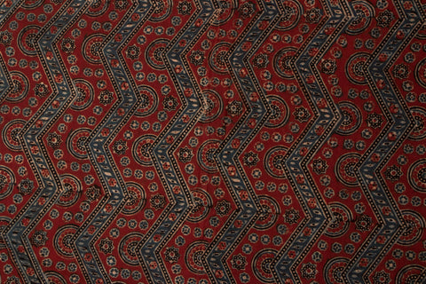 Ajrakh Print Precut Cotton Fabric - 1.0 Meter