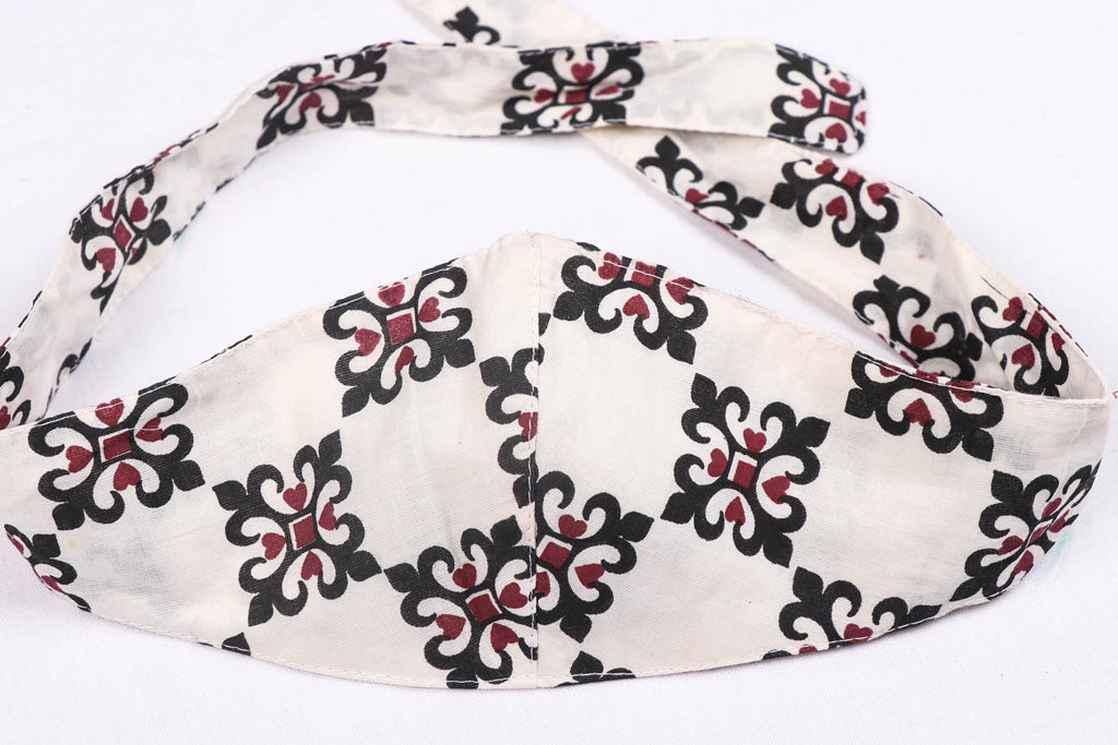 Bandana Head Wrap 3 Layer Special Jaipur Printed Cotton Fabric Unisex Face Cover Free Size