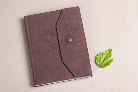 Handmade Paper Classic Notebook with Button Closer