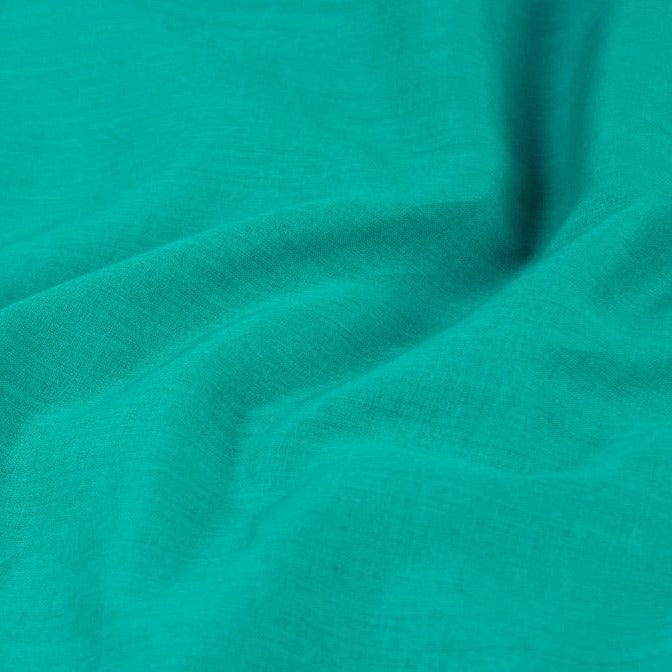 Aqua Green - Pre Washed Plain Lining Cotton Mul Fabric (Width - 45in)
