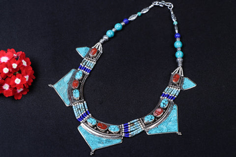 Ethnic Tribal Tibetan Necklace from Himalaya