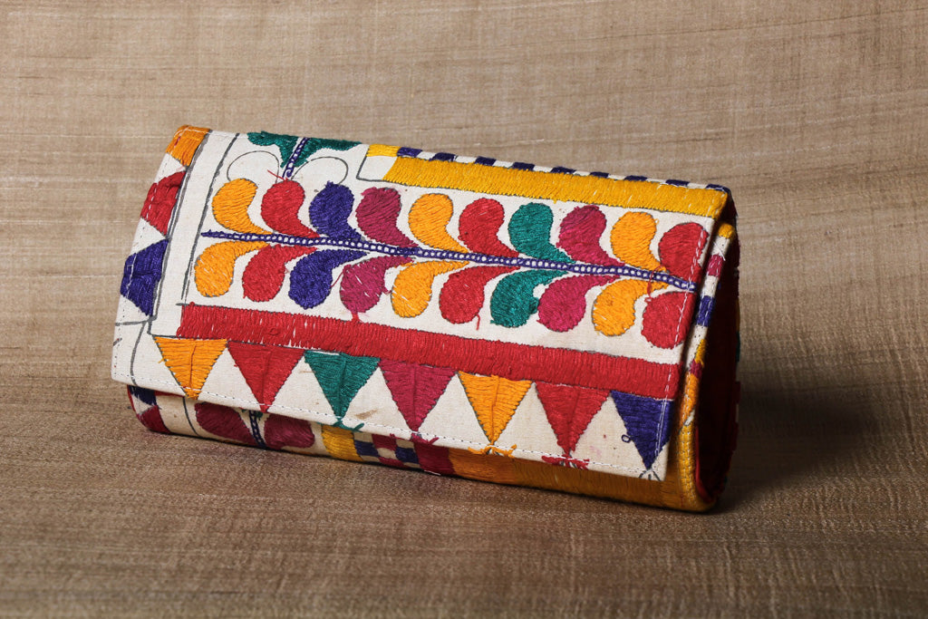 Kutchi Embroidery Handmade Clutch Wallet