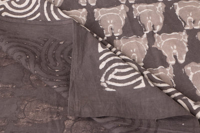Block Art Prints Natural Dyed Cotton Double Bedcover by Bindaas Unlimited