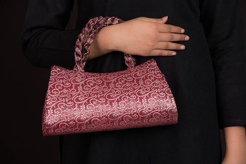 Handcrafted Silk Brocade Clutch
