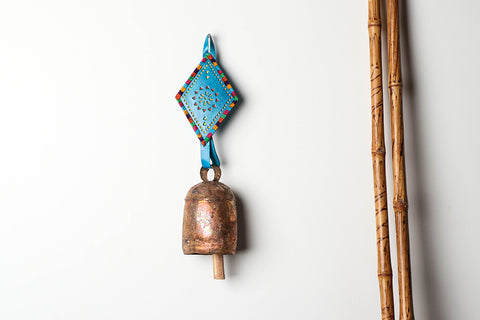 Kutch Copper Coated Bell With Leather Belt - Kite (16.5 inches)