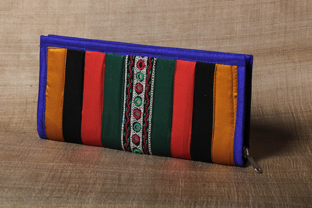 Kutchi Embroidery Silk Handmade Clutch Wallet
