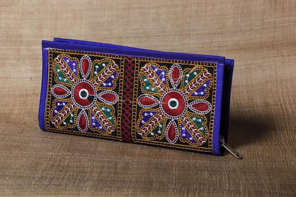 Embroidered Handmade Clutch Wallet