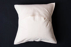 Bakhiya Tanka Embroidered Cotton Cushion Cover (16 x 16 inches)